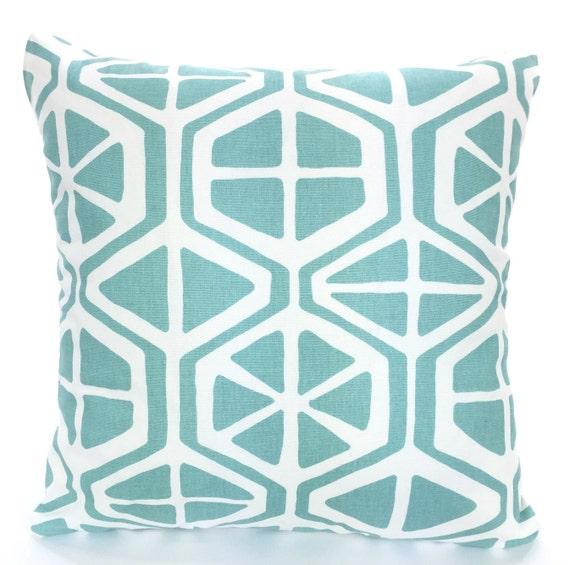 Aqua White Decorative Throw Pillow Covers Cushions Aqua  cf54e558fbe4