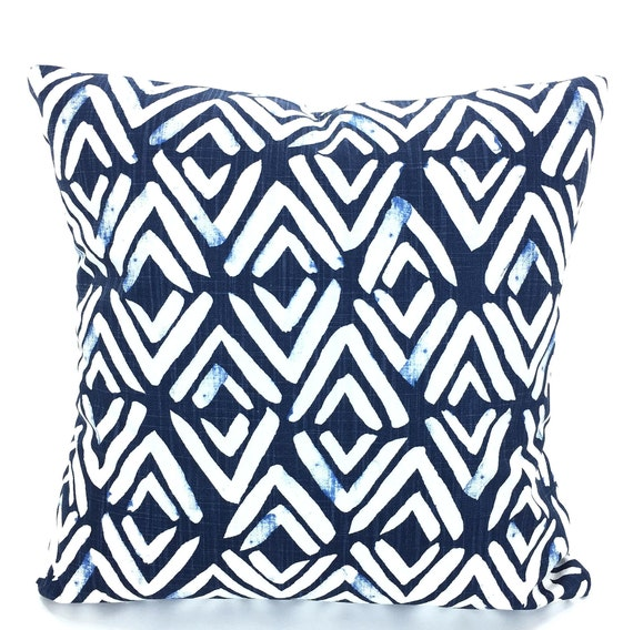 Marvelous Pillow Covers Navy Blue White Decorative Pillows Cushion Covers Regal Navy White Slub Canvas Fearless Couch Bed Sofa Pillows Various Sizes Caraccident5 Cool Chair Designs And Ideas Caraccident5Info