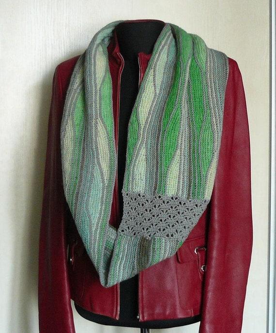 Écharpe tricoté Womens laine capelet tricot Col écharpe Merino   Etsy aeb73a1015f