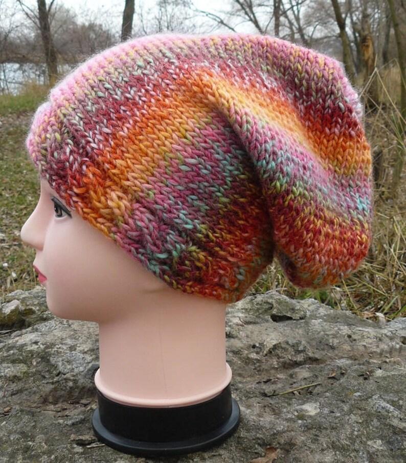 bbbb589e781 Womens beanie hat Winter wool hat Knitted slouchy beanie