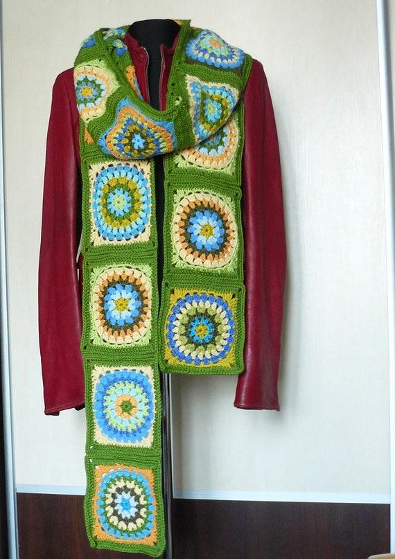 Extra langer Schal übergroßen afghanischen häkeln Oma Quadrat