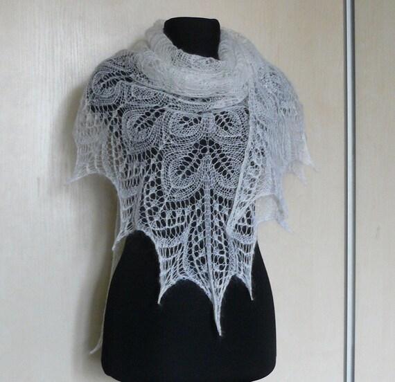 Wrap de châle dentelle blanche tricot châle écharpe châle   Etsy d6413d54ee8