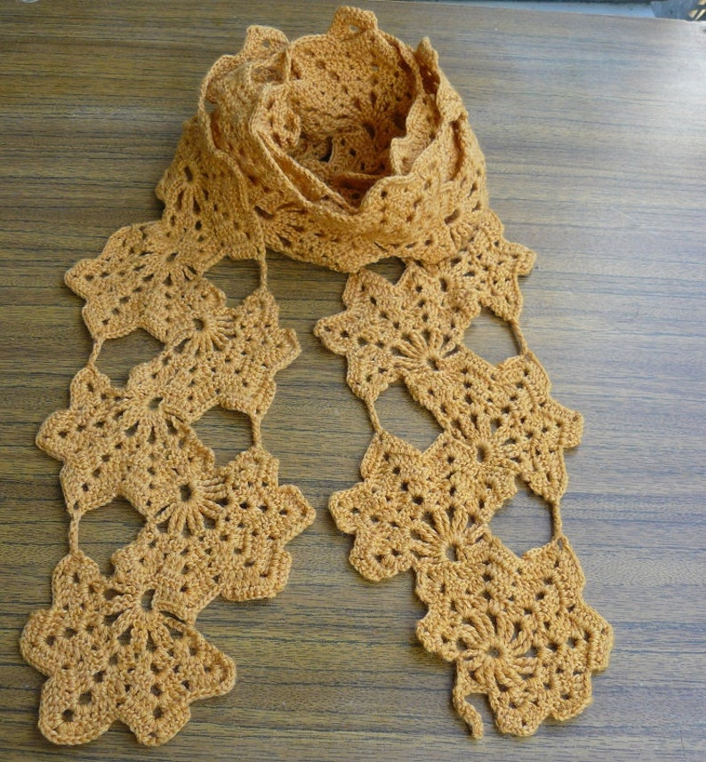 Yellow Crochet Scarf Handmade Womens Scarf Wrap Knitted Scarf Etsy