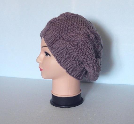 Knit beanie hat womens Slouchy beanie hat Winter wool hat for  6e326b54cd5