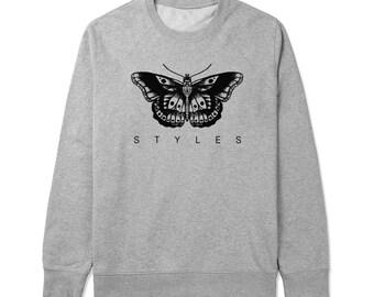 263f582dc0b1 Styles Butterfly Tattoo - Gray White Unisex Sweater - SWEATER-039