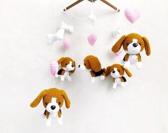 bd7f24e962c Beagle Puppy Crochet Baby Mobile