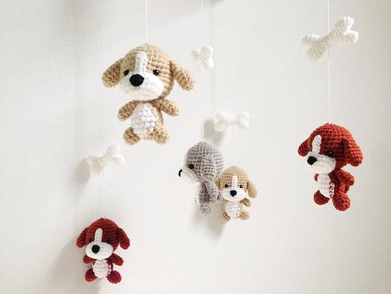 Puppy Crochet Baby Mobile Etsy
