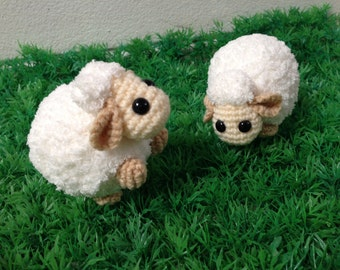 Mi Mi Mi Cutie Sheep Grazing in a Field Amigurumi, nursery decor, Sheep crochet, Crochet Sheep, Handmade crochet animal