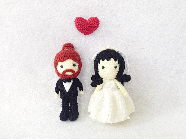 Wedding Cake Topper Crochet Character Bride And Groom Cake