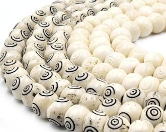 -Handmade Lampwork Beads Bullseye Flat Patty Pair #1