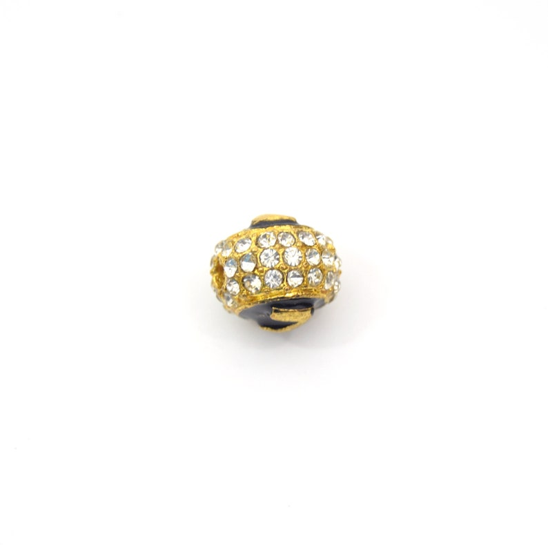 Gold 11mm Double-sided Letter Z on  Rhinestone Banded RoundBall Shaped Bead Clearance!