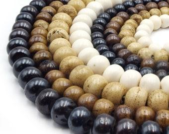 Bone Beads   Ox Bone Round Rondelle Beads   White Bone Beads, Brown Bone Beads   2mm 3mm 4mm 6mm 8mm 10mm 12mm 14mm 16mm   Loose Bone Beads