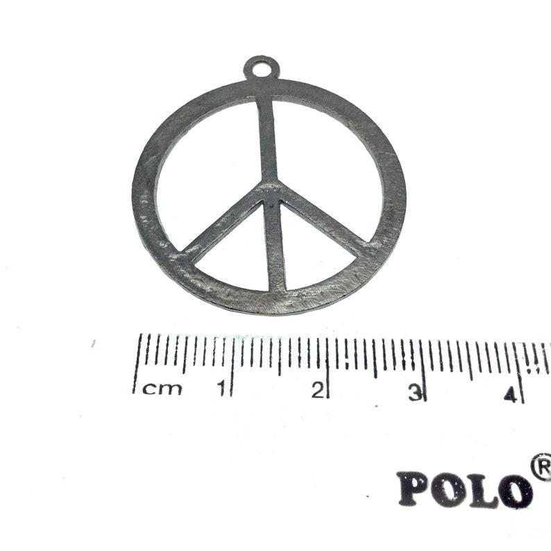 Gunmetal Plated Hippie Peace Sign Cutout Circle Shaped Brushed Finish Copper Components Pack of 10 441-GM Measuring 32mm x 32mm