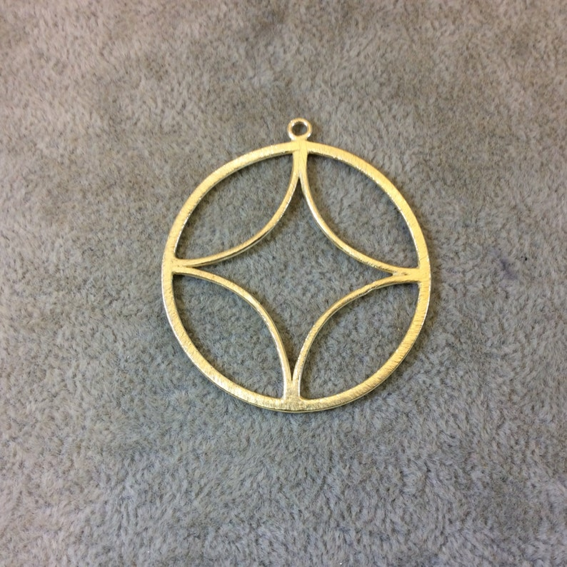 Measuring 41mm x 41mm Sold in Packs of 10 268-GD Large Sized Gold Plated Copper Open Compass Point Shaped Components