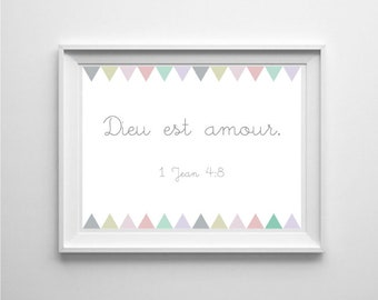 Digital Art / Bible verse God is love