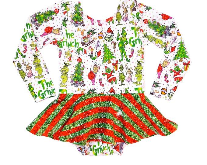 Featured listing image: Christmas Twirl leotard