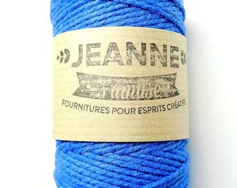 royal blue navy blue Kit 3 coupons cotton strings baker/'s twine sky blue 3 x 10 m