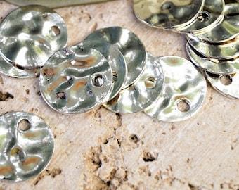 Metal sequin silver 20 mm