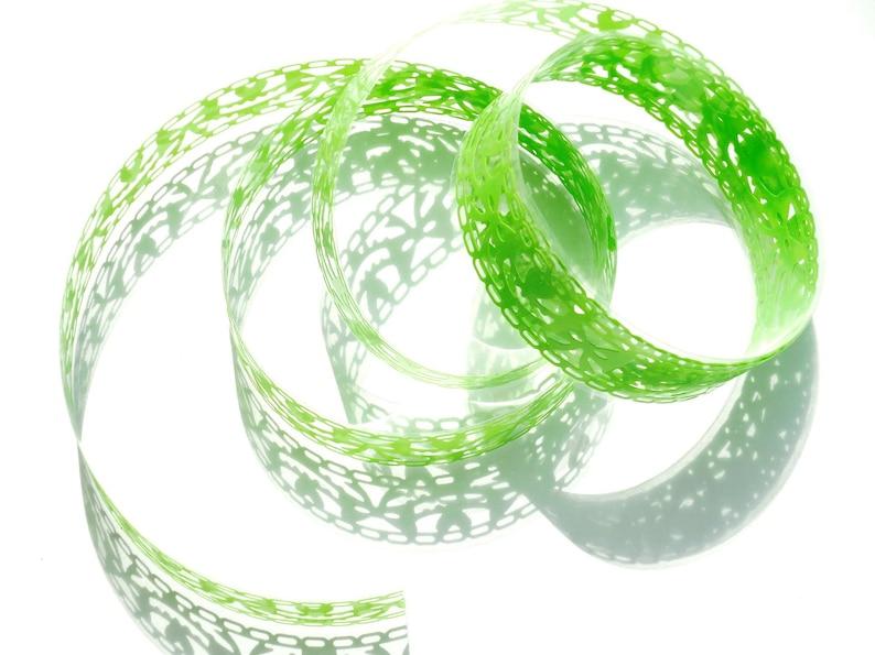 Washi Masking Tape Washing Tape fluo green lace image 0