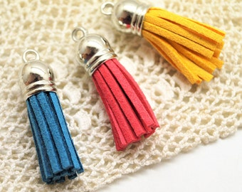 Charms tassel with suede fringe 38 mm