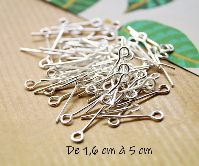 100 stems silver with buckle 16 cm to 5 cm image 0