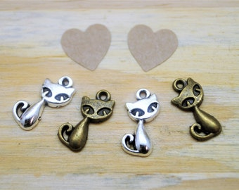 4 cat charms 17 * 9 mm