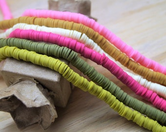 Heishi beads 6 mm on one strand 41 cm