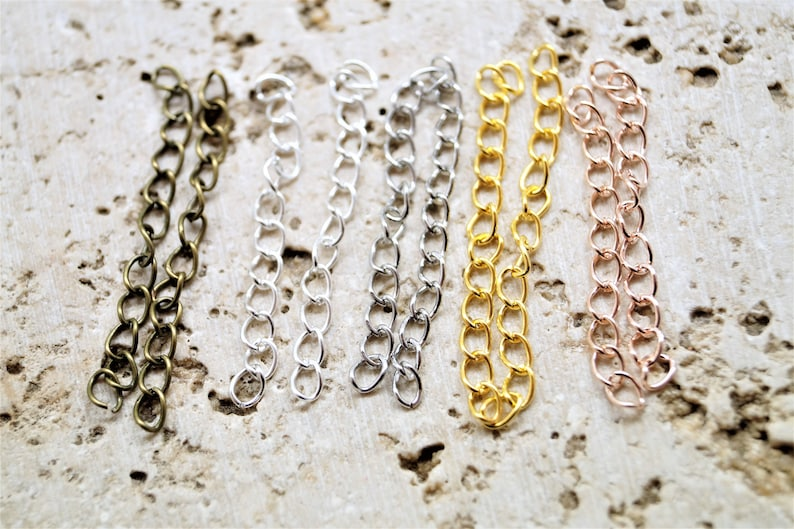 Extension chains for handmade jewerly set of 20 image 0