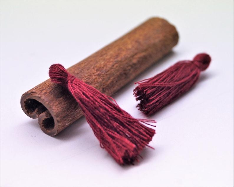 set of 10 Cotton pompoms with fringes 27 mm