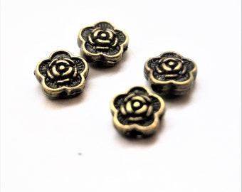 Beads bronze flower 7 mm