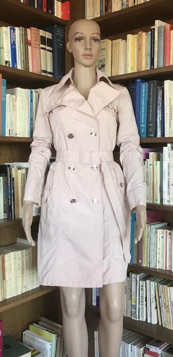 PINK Trench Coat Summer Coat Light Weight Pastel P
