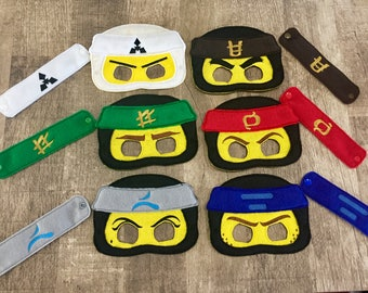 Ninja Mask And Wristband Set for Costume Dress Up Parties