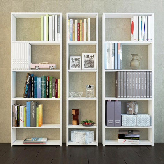 Scaffali Libreria Bianchi.Libreria Libreria Moderna Scaffali Per Libri Bianchi