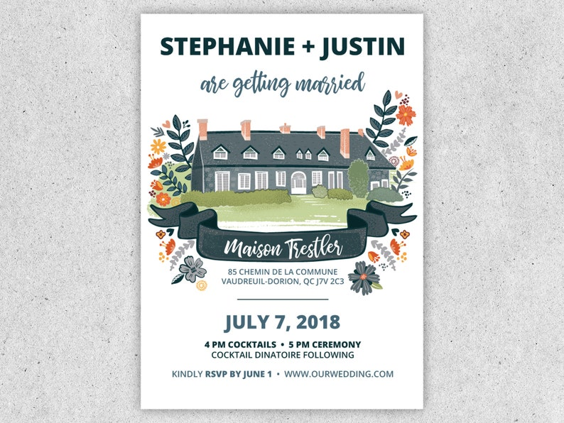 Custom Wedding Invitation image 0