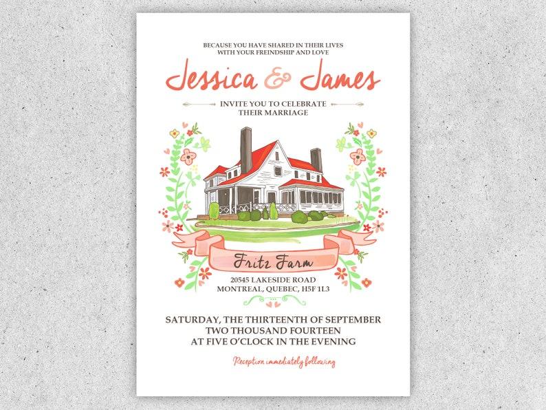 Custom Wedding Invitation image 0
