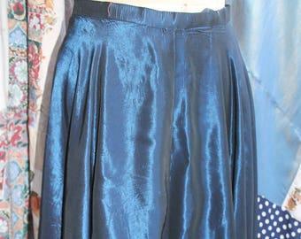 Blue black taffeta circular skirt REF 577