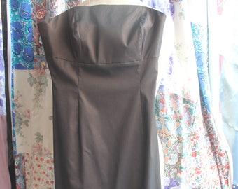 Black/brown strapless evening gown REF 610