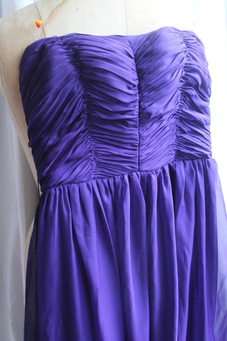 Purple evening dress REF 690