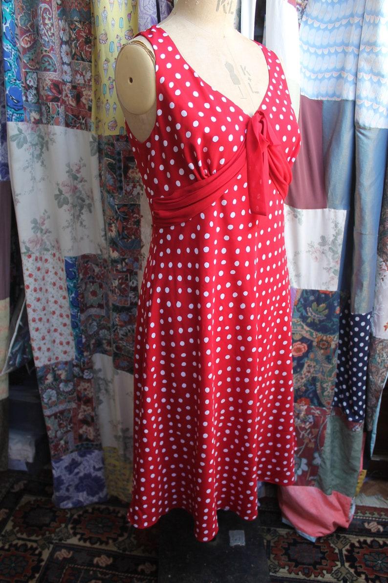 Lined red polka dot  dress Ref 1436