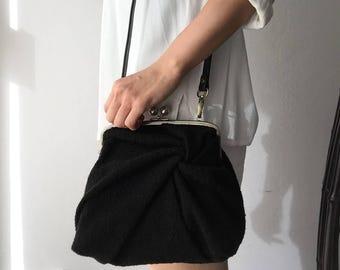20%OFF -ONE OFF- Fumi Original design double kiss-lock frame bag
