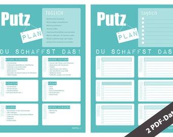 Putzplan, 2 DIN A4 PDFs
