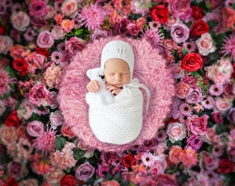 Background for your baby photo flowers