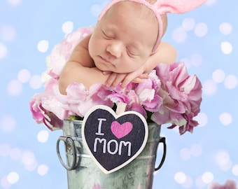 Background for your baby photo flower basket