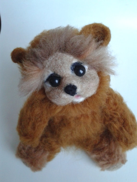 Needle felted Teddy Bear, felted Bear,gift idea, OOAK, Hand made, Unique toy Soft Sculpture ,