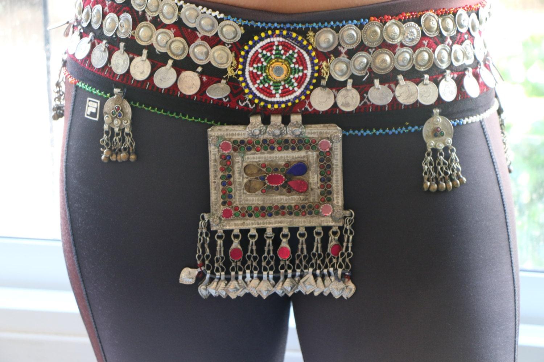 780176049 Tribal fusion belt/gypsy belt/belly dance coins belt/ATS   Etsy