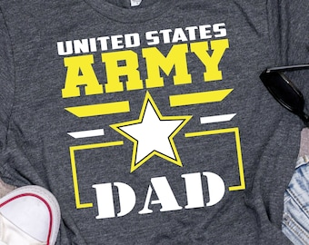 9c3cfcd844 U.S. Army Dad Shirt | Tank Top | V-neck | Longsleeve | Sweatshirt | Hoodie  | Armed Forces | Army Father Gift | Military Tshirt| Army Soldier