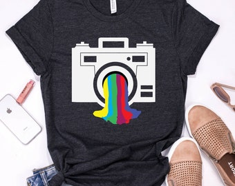 9d974ab634c Photography Shirt | Tank Top | V-neck | Longsleeve | Sweatshirt | Hoodie |  Cool Camera Tee | Photographer Gift | Camera Artwork | Cameraman