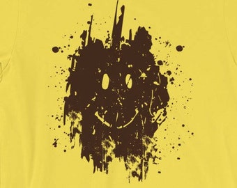 a093bf29 Muddy Smiley Face T shirt | Forrest Gump Inspired