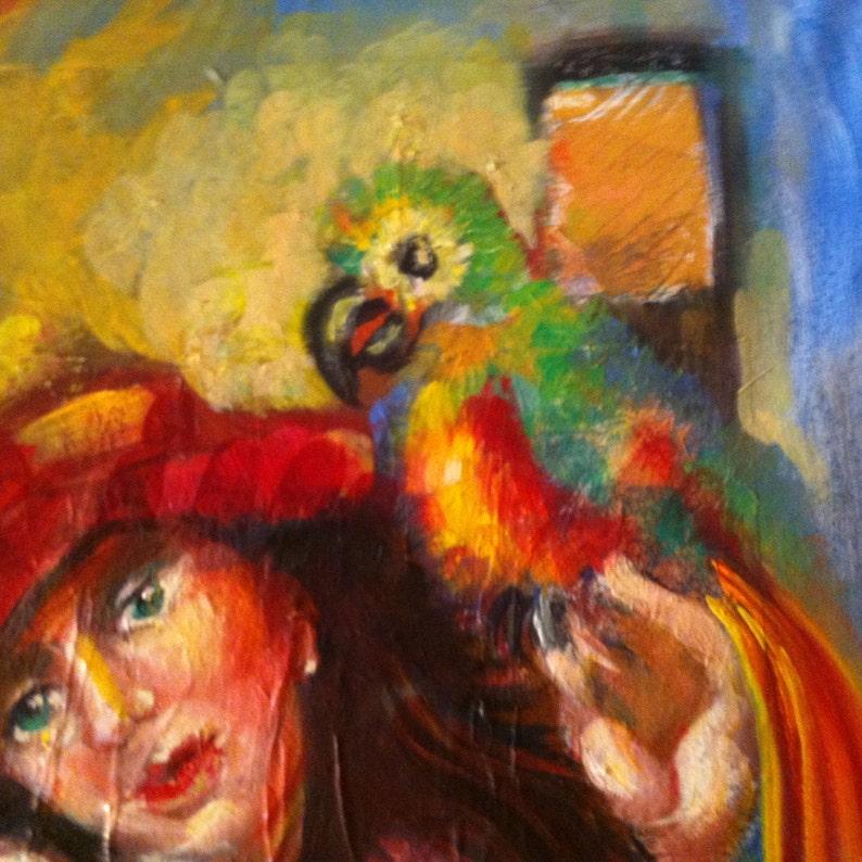 Surréalisme-peinture grande huile sur toile femme de art ...