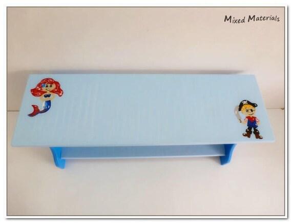 kinder schuhbank sitzbank 80 cm meerjungfrau pirat etsy. Black Bedroom Furniture Sets. Home Design Ideas